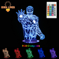 3D LED Night  Light RGB Changeable Mood Lamp Super Hero LED 3D Light DC5V USB Decorative Table Lamp.