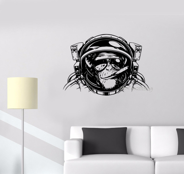 Incroyable Wall Sticker Monkey Astronaut Space Helmet Diving Decor Vinyl Removable Wall  Decal Living Room Cool Wall