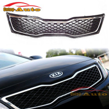 Quality ABS Chrome Frame with Gloss Black Mesh Bumper Front Grille For KIA K5 2011 2012