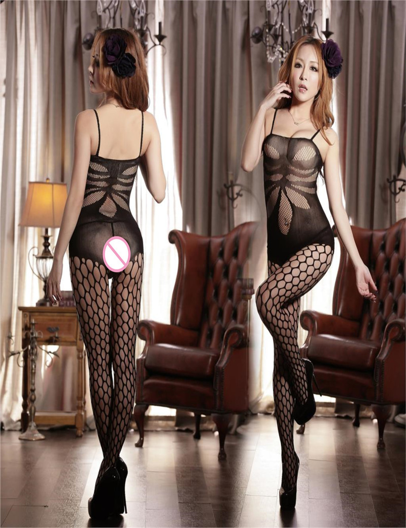 hot sexy lingerie teddy hollow jacquard tape siamese netting erotic