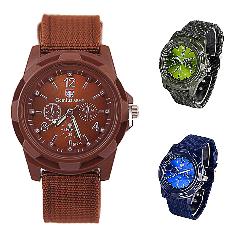 Men Nylon Band Military Watch Gemius Army Watch High Quality Quartz Movement Men Sports Watch Casual Wristwatches Gifts for Men