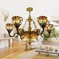 6 Простой двухлистный светильник для гостиной  роскошная люстра Tiffany  современный скандинавский светильник для спальни  украшение из стекла
