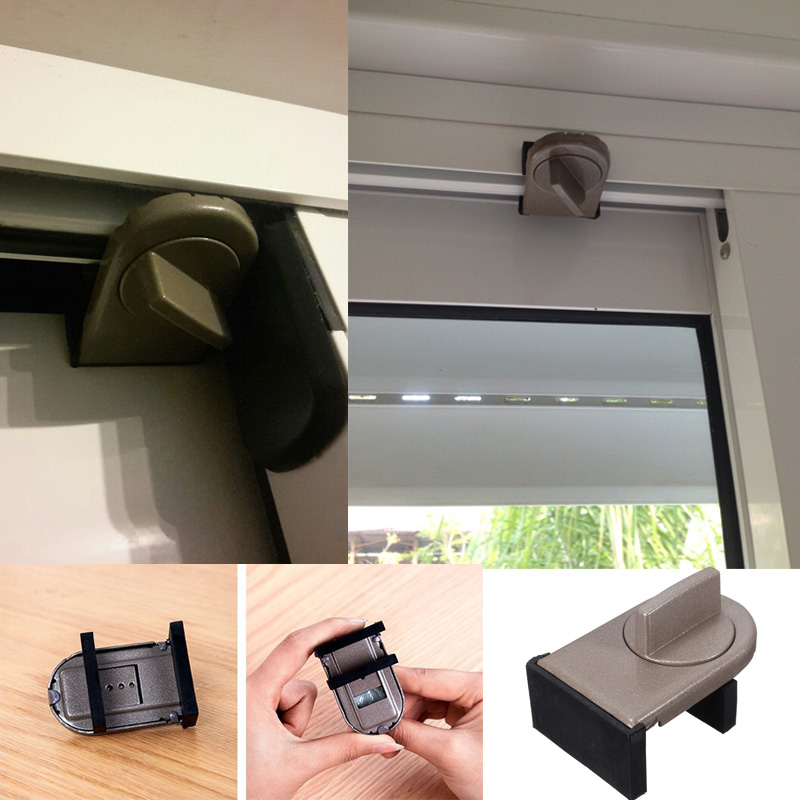 Iron Sliding Window Safety Lock Adjustable Baby Safety Security Restrictor Limited Catch Anti-theft lock sliding sash Stopper