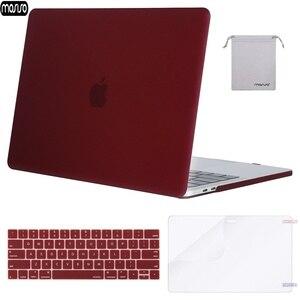 Image 1 - Матовый Жесткий чехол MOSISO для ноутбука MacBook Pro 13 15, чехол 2018, новый Pro 13 15 с сенсорной панелью A1706 A1707 A1989 A1990 A1708