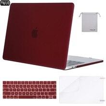 MOSISO Matte Duro Shell Caso Laptop Para MacBook Pro 13 15 Capa 2018 Nova Pro 13 15 com Barra de Toque a1706 A1707 A1989 A1990 A1708
