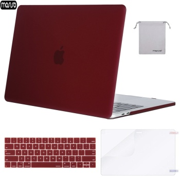 цена на MOSISO Matte Hard Shell Laptop Case For MacBook Pro 13 15 Cover 2018 New Pro 13 15 with Touch Bar A1706 A1707 A1989 A1990 A1708