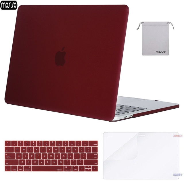 MOSISO Matte Hard Shell Laptop Case For MacBook Pro 13 15 Cover 2018 New Pro 13 15 with Touch Bar A1706 A1707 A1989 A1990 A1708