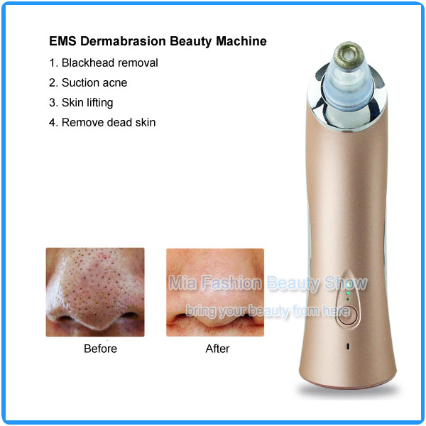 6PCS Beauty Heads Face Skin Care Suction Nose Blackhead Remover Acne Treatment EMS Microdermabrasion Machine