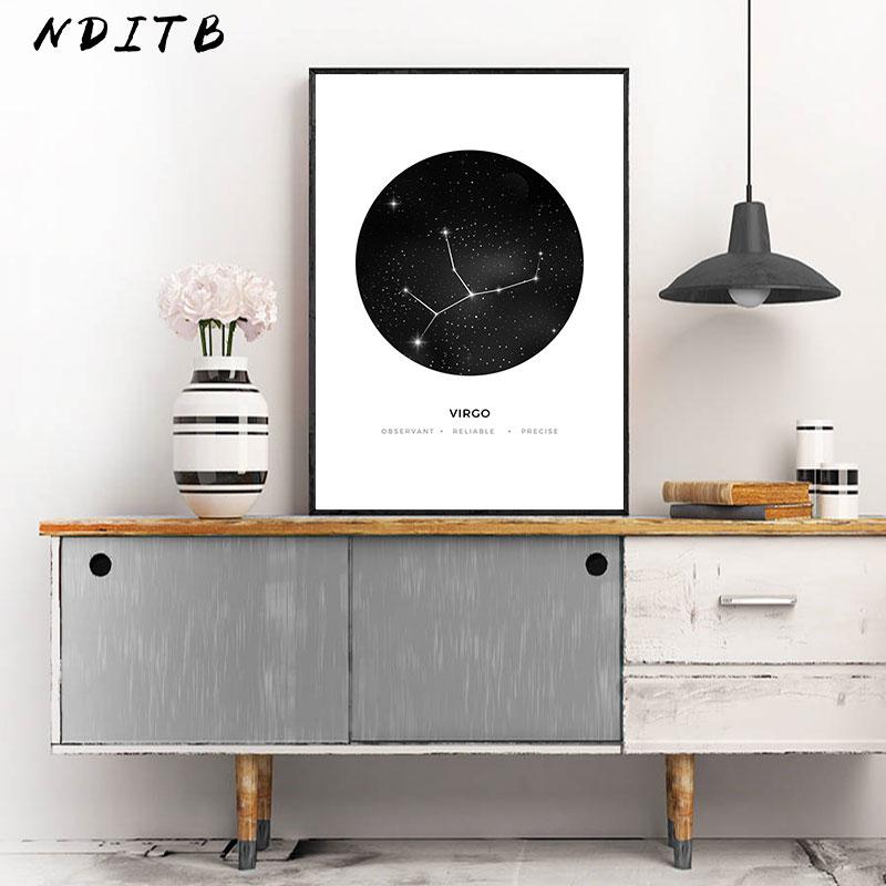 HTB1HZJoXyHrK1Rjy0Flq6AsaFXaF Constellation Nursery Wall Art Canvas Poster Prints Astrology Sign Minimalist Geometric Painting Nordic Kids Decoration Pictures