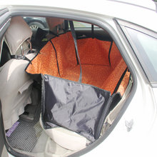 Dongzhen Auto Car Pet Cover Dog Seat Cat Rear Back Seat Pet Carrier Mat Blanket Rear Double Seat Hammock Dog Cushion Protector