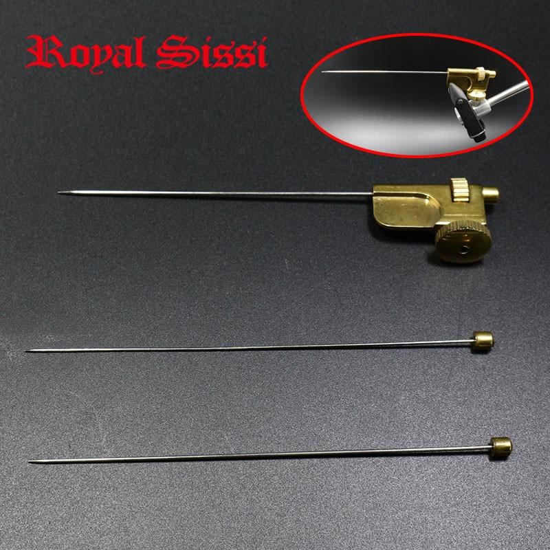 Royal Sissi σωλήνας 1set μύγα συνδέουν τα εργαλεία ορείχαλκο υλικό σωλήνα μύγα συνημμένα με 3 μεγέθη βελόνες Tube μύγα αλιευτικά widgets αντιμετώπιση