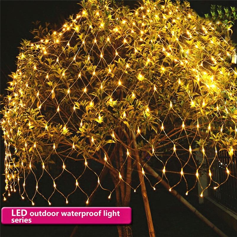 Biggest 2x3M String Lights 200LED Net Mesh Fairy Twinkle Flash Lamp Home Garden Christmas Wedding Xmas Tree Party Garland Decor