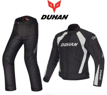 ДУХАН гоночный костюм мотоцикл езда костюм Куртка брюки зима теплая ветрозащитный анти-борьба Гора езда рыцарь одежда оксфорд
