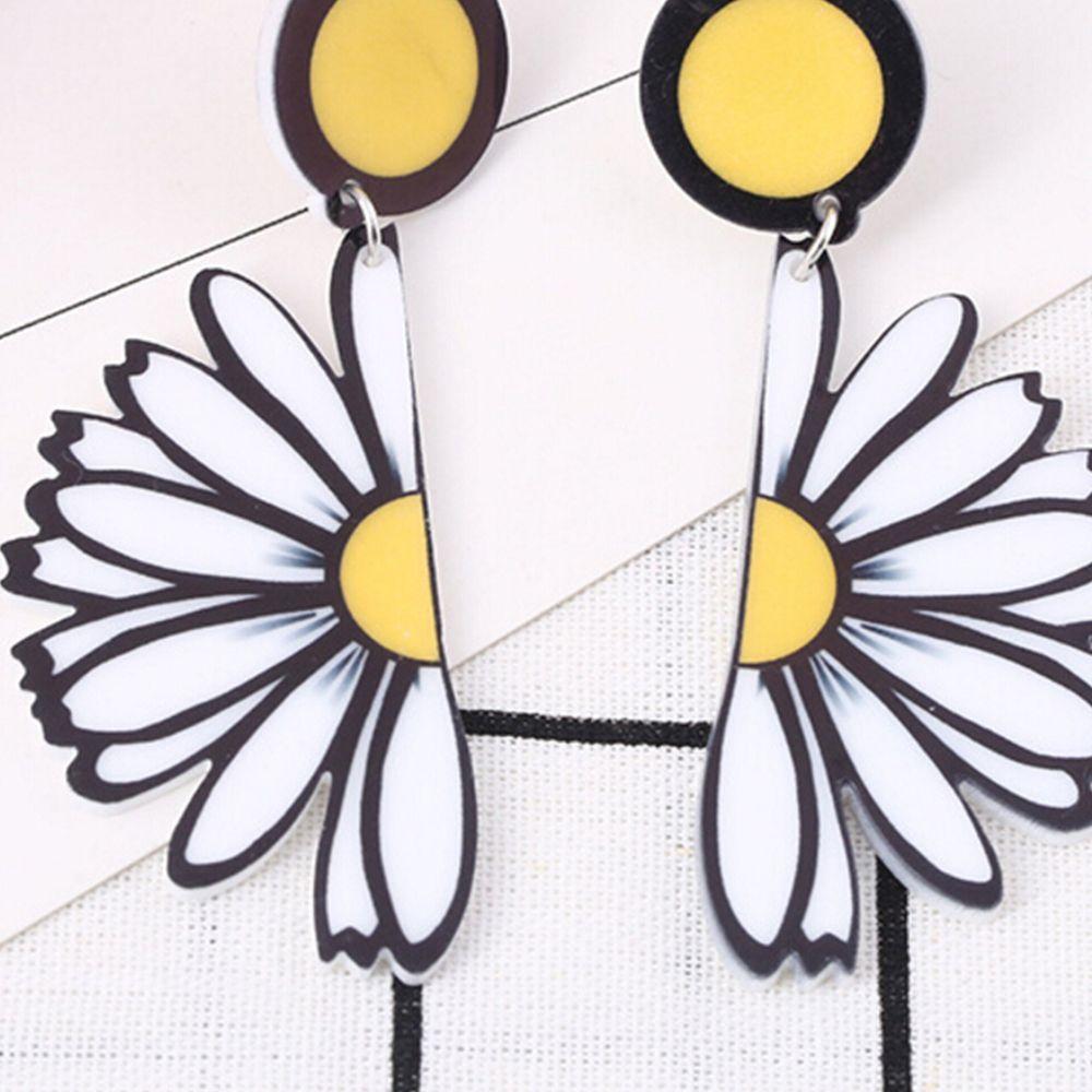 Fashion Women Earrings Glass Round Flower Ear Stud Jewelry Vintage Retro Gift
