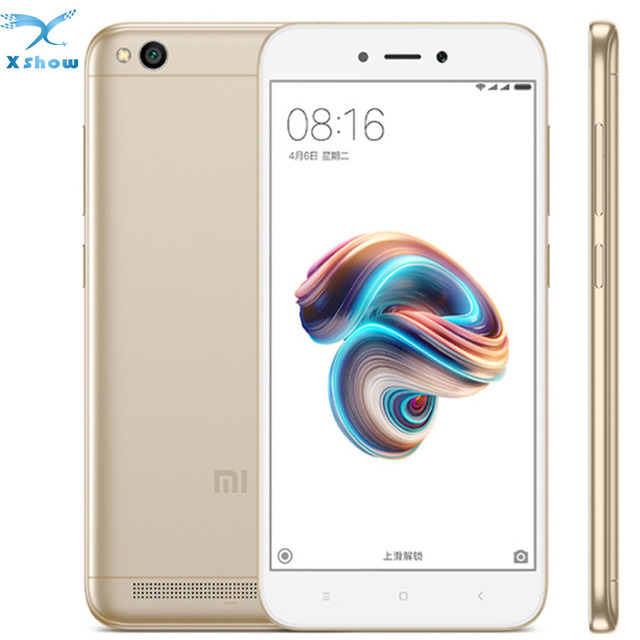 Original Xiaomi Redmi 5A 2GB RAM 16GB ROM Mobile Phone Snapdragon 425 Quad Core CPU 5.0 Inch 13.0MP Camera 3000mAh Smartphone