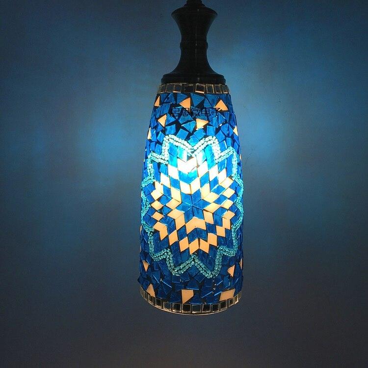 где купить E27 Newest stytle Turkey ethnic customs handmade lamp romantic cafe restaurant bar tree Pendant light bar Mosaic Pendant lamp по лучшей цене