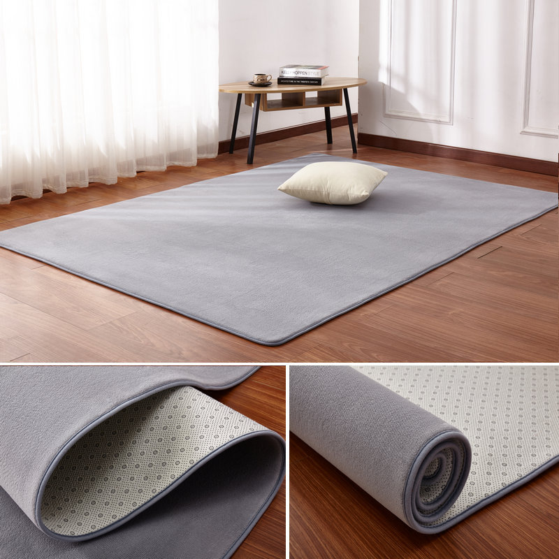 Coral Velvet Thickening Carpet Modern Minimalist Bedroom Living Room Mat Coffee Table Sofa Mat Full Bedside Rectangular Blanket