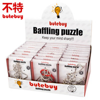 butebuy 24pcs/ set Baffling Puzzl Metal Wire Puzzle IQ Mind Brain Teaser Puzzles Game for Adults Children Kids Gift Board Game