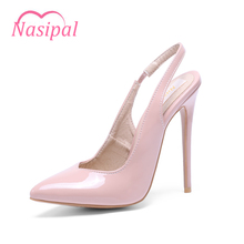 Nasipal New Pumps High Quality Sexy Pointed toe Shoes Women Super High Heel Fashion Women's Pumps Ladies Brand Summer Shoes C029