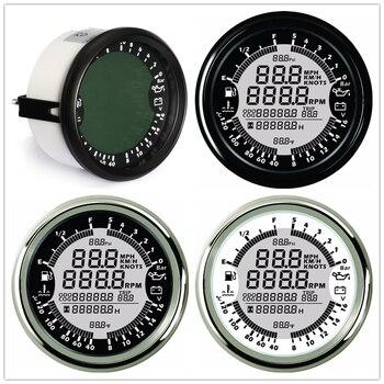 Датчик температуры 6 в 1 GPS Спидометр, тахометр, температура воды, уровень топлива, давление масла, вольтметр, об/мин, для лодочного двигателя,