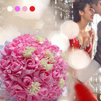 2016 Wedding Bouquet Flowers Pink Red White Purple Bribe Bouquet For Wedding Bride Wedding Holding Flowers