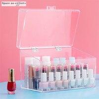 Acrylic Makeup Organizer Polish Cosmetic Storage Box Lipstick Desk Organizador Jewelry Rangement Cajas Organizadoras De Plastico