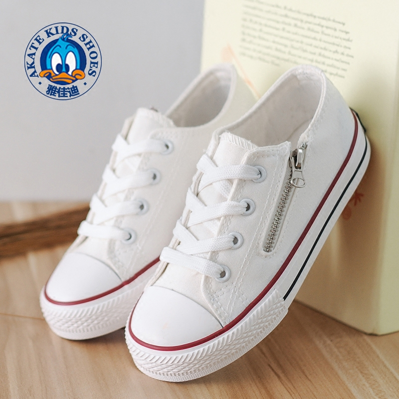 Kids Sneakers 2018 New Spring Lace-Up Canvas Shoes for Children Sport Breathable Denim Flat Sneakers Student Casual Shoes
