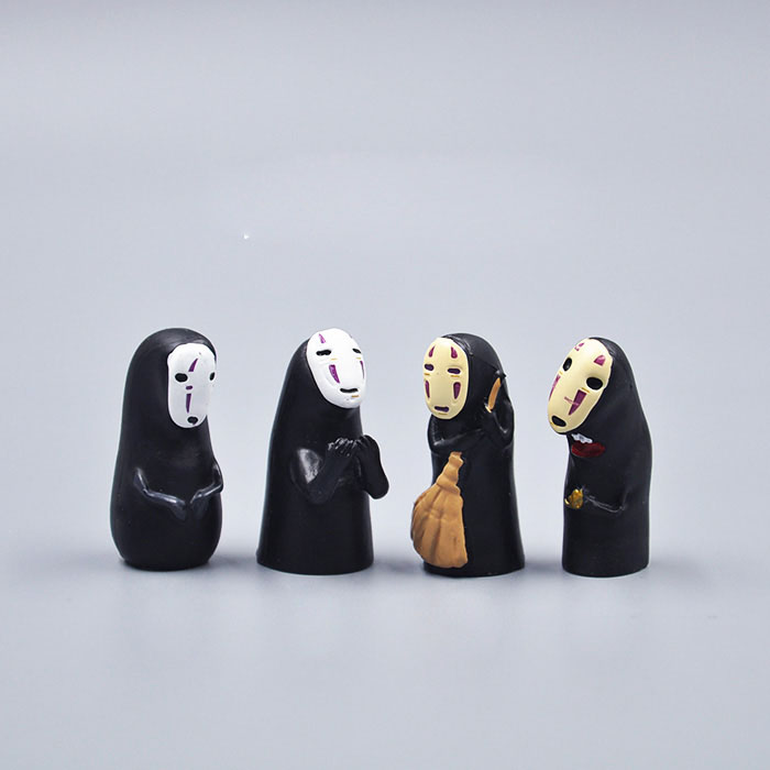 Studio Ghibli Spirited Away No Face Man Vinyl Action Figure Faceless Man PVC Figure Collectible Model Toy 3.8cm new hot christmas gift 21inch 52cm bearbrick be rbrick fashion toy pvc action figure collectible model toy decoration
