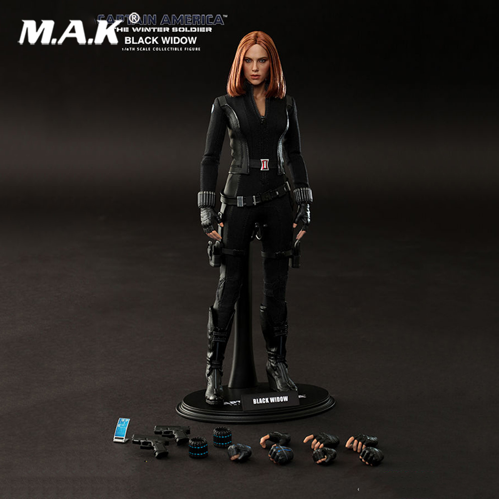 Hot 1/6 Scale MMS239 1/6th Captain America Black Widow Figure Model Collections hottoys1 6th scale scarlett johansson black widow ver3 0 captain america the winter soldier 12 action figure doll model toy