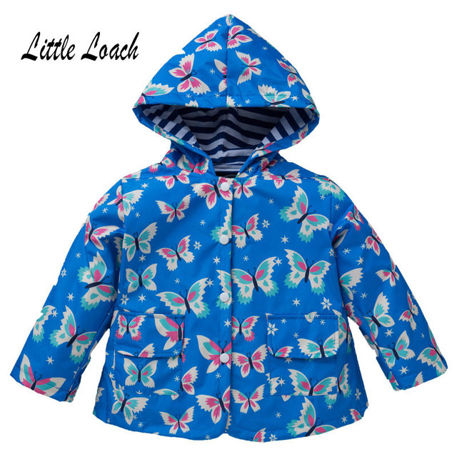 f111a7166 Butterfly Children Coat Spring Autumn Girls Boys Jacket Water ...