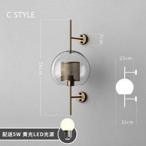 Image 4 - Aplique de pared estilo Industrial Retro, Vintage, creativo, conciso, de cristal, para cocina, restaurante, Loft, aplique de pared Led, envío gratis