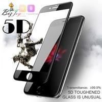 5D de la cubierta completa 9H protector de pantalla de vidrio templado para el iphone 7 7plus X 8 5 5s 5c SE 6 6S 10 plus guardia película camisas de Polo