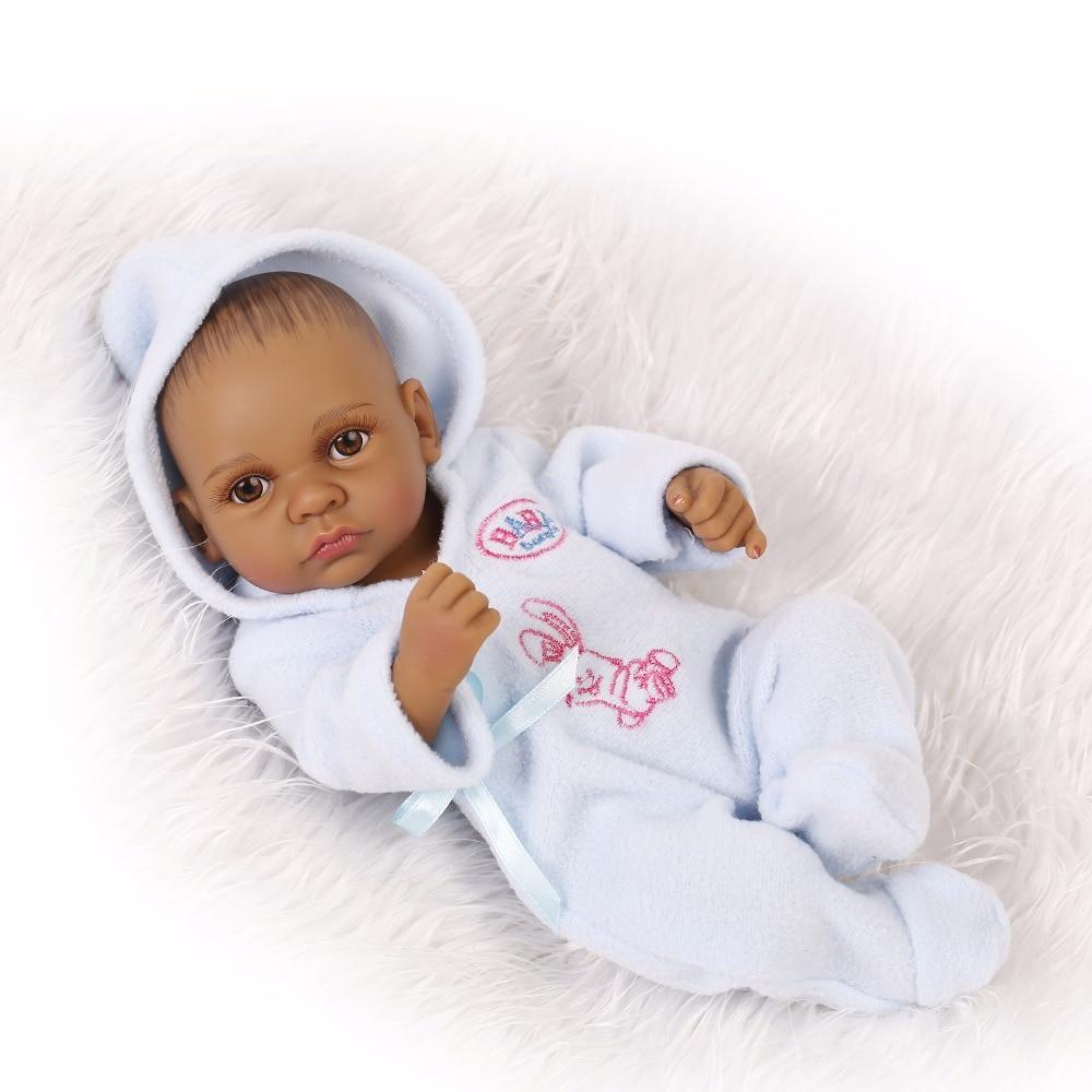 28cm boy Silicone Reborn Baby Doll Children Playmate Gift Toys For Girls Dolls reborn  knit wear Bathable Clothes Bebe Reborn