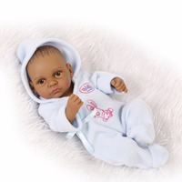 28cm boy Silicone Reborn Baby Doll Children Playmate Gift Toys For Girls Dolls reborn knit wear Bathable Clothes Bebe Reborn