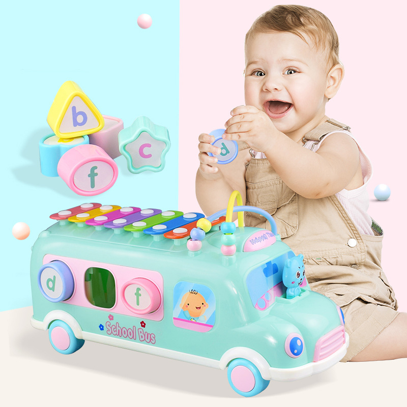 Baby Toys 0 12 13 24 Months Learning Musical Instrument Toys For Toddlers School Bus Baby Boy Toys Brinquedos Para Bebe Oyuncak