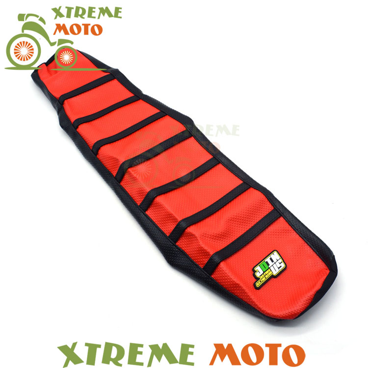 ФОТО Red Gripper Soft Seat Cover For Suzuki DRZ400 DRZ400E DRZ400S DRZ400SM 00-16 Motorcycle Motocross Supermoto Dirt Bike Off Road