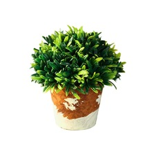 Ball Simulation Green Plants Potted Artificial Flowers Small Bonsai Ornaments Living Room Garden Decoration