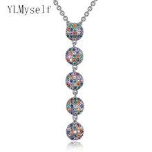 Роскошное круглое длинное женское ожерелье в турецком стиле