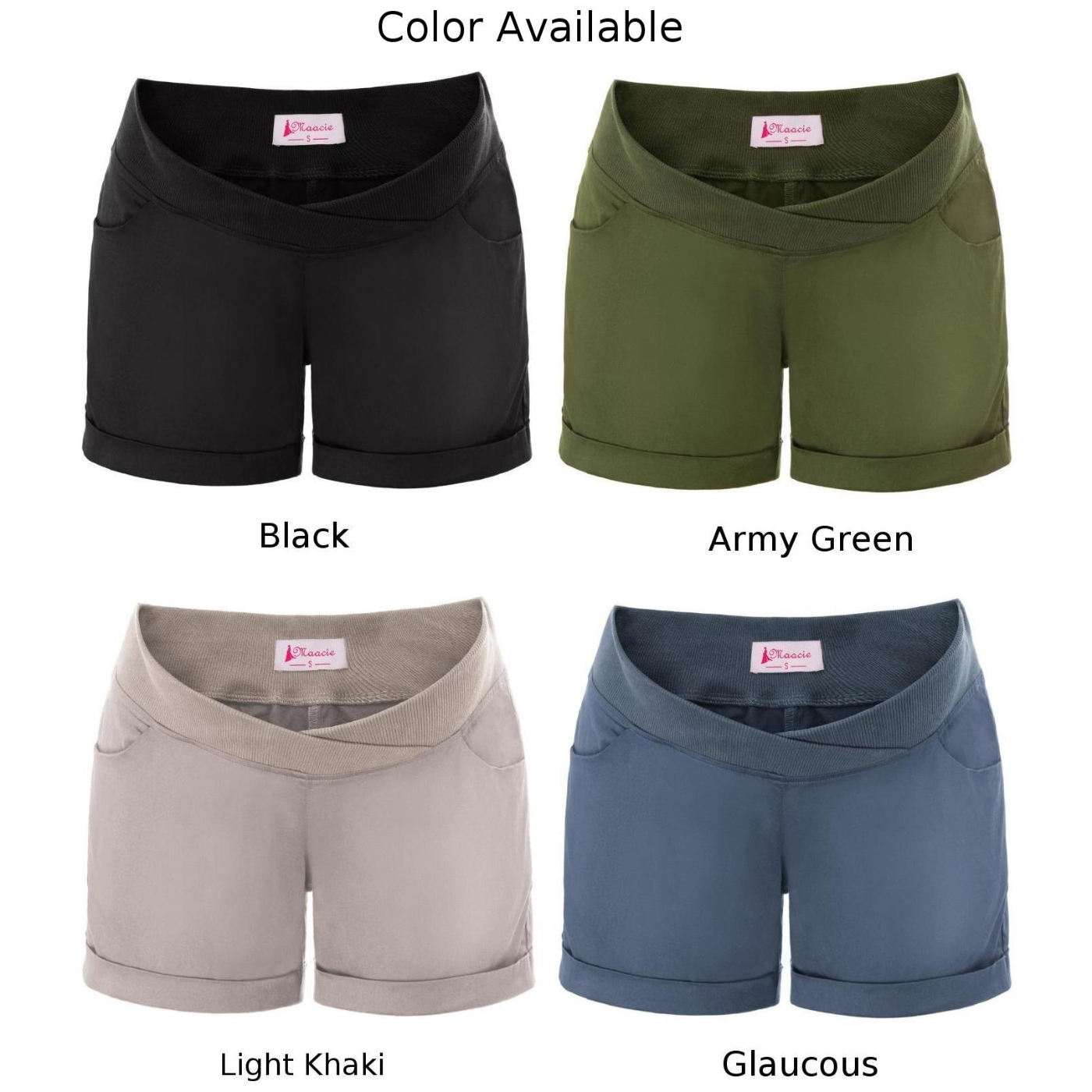 Solid Shorts Plain Vintage Beachwear Womens Ladies Maternity Elastic Casual Summer Homewear Pregnant Low rise New in Shorts from Women 39 s Clothing