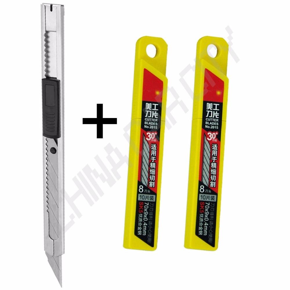 20pcs Art blades 30 degrees blade Trimmer Sculpture Blade Utility snap-off knife General purpose car wrapping vinyl film kit K25