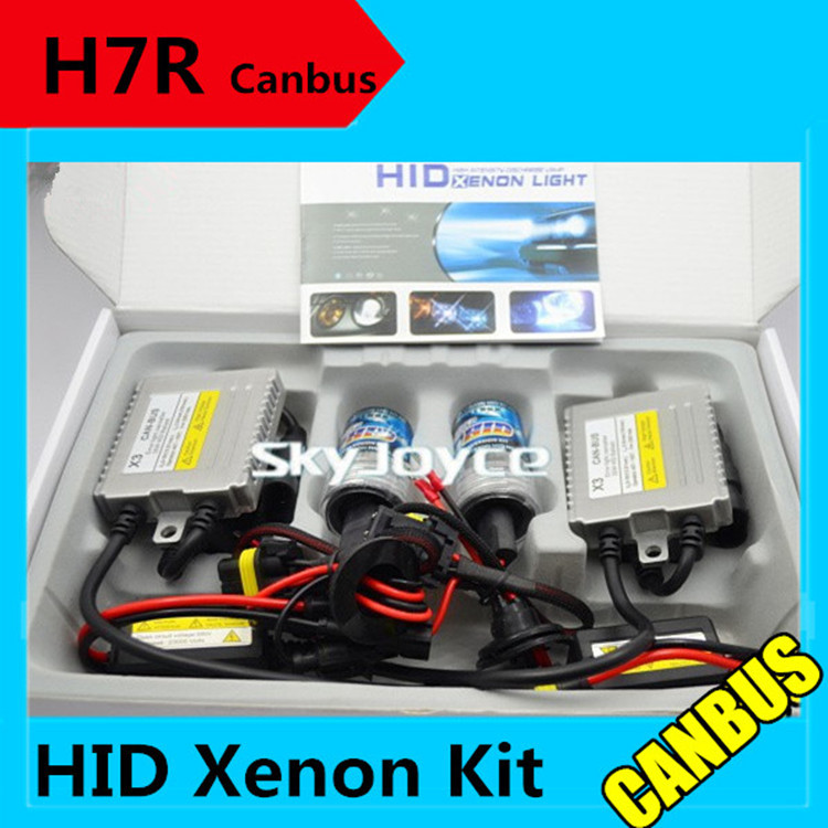 Freeshipping H7R metal base 35W 12V hid canbus kit  H7R xenon hid kit error free ballasts H7R canceller headlight coating layer