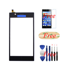 "New 100% Original For Lenovo K900 5.5"" Black Touch Screen Glass Lens Panel Digitizer Replacement Parts +film+tools+sticker"