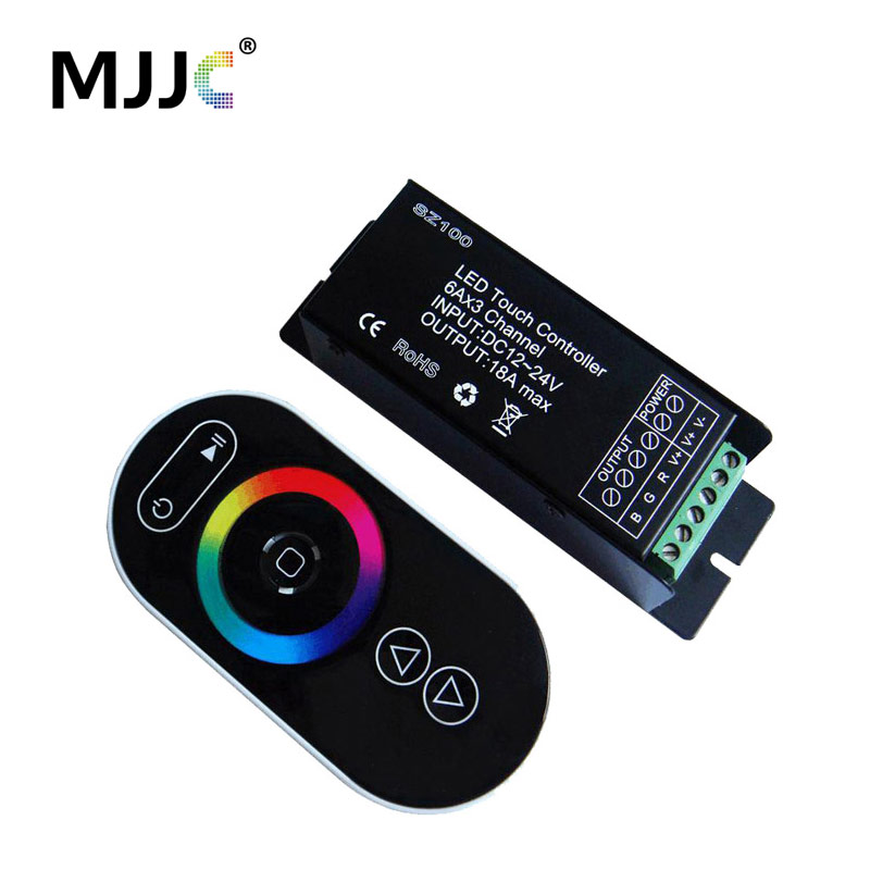 Controler LED 12V 24V 3 canale 18A RF Telecomanda wireless wireless pentru RGB LED Band Strip
