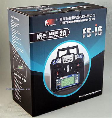 Newest Flysky FS i6 FS I6 2 4G 6ch RC Transmitter Controller FS iA6 or IA6B