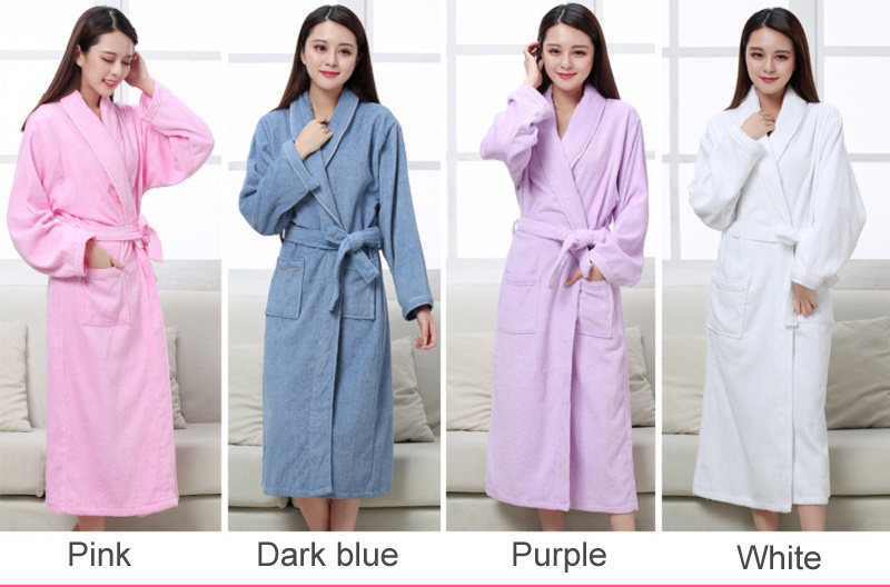 Women Men Cotton Towel Terry Bathrobes Long Sleeve Robe All Seasons for Home  Clothing Hotel Beauty Salon Spa Robes. Women Men robes (1) Women Men robes  (2) ... 53f19232a