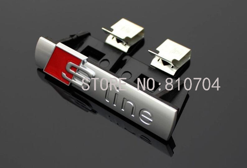 Car-styling 1 pcs S LINE Metal 3D Car Front Hood Grill Badge Grille Emblem Logo Race for Audi A1 A3 A4 A5 A6 A7 A8 Q3 Q5 Q7 TT квикдекор картина на холсте снежная королева 40 см х 30 см