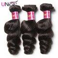 UNice Hair Company Brazilian Loose Wave Virgin Human Hair Extensions Mixed 3pcs 7A Brazilian Virgin Hair Loose Wave Human Hair