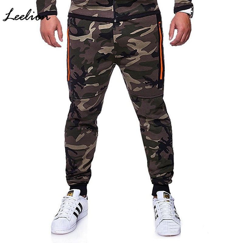 IceLion 2019 New Fashion Camouflage Pants Men Sweatpants Solid Elasticity Mens Joggers Pants Fitness Casual Pencil Trousers Man