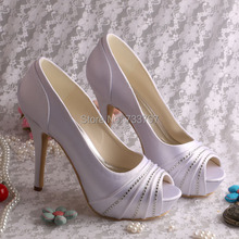 Wedopus MW1602รองเท้าส้นสูงเป็นพิเศษรองเท้าแต่งงานแพลตฟอร์มเซ็กซี่ผ้าซาตินสีขาวเปิดนิ้วเท้า