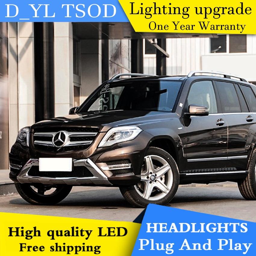 Car Styling Headlights For Benz GLK 2012-2015 LED Headlight For GLK Head Lamp LED Daytime Running Light LED DRL Bi-Xenon HID